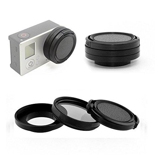 Phot-R® 37mm Circular Polarising Filter CPL C-PL, Protective Lens Cap Cover w.