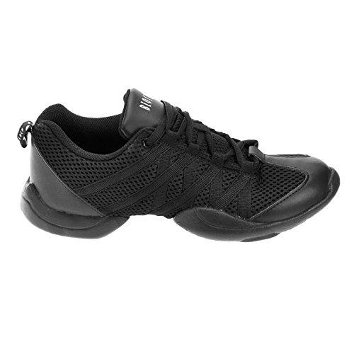 Bloch 524 Criss Cross Tanz Sneaker, Schwarz, Größe EU 39 1/3