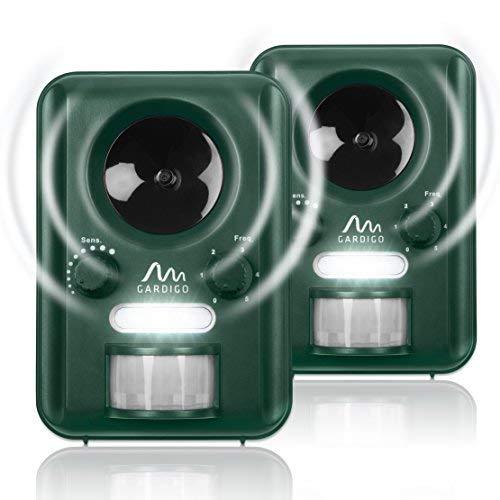 Gardigo Repellente Ultrasuoni a Batteria o Energia Solare Set di 2 Pezzi...