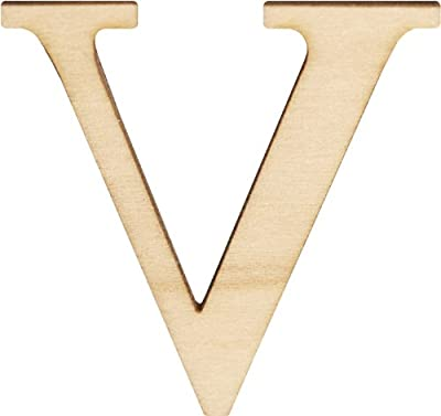 """Wood Letters & Numbers 1-1/2"""" 2/Pkg-V"""