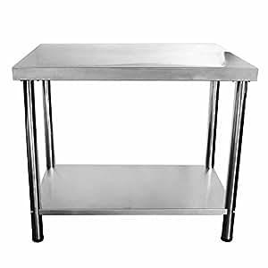 Tisch 50 Cm.V2a Edelstahl Tisch Gastronomie Beistelltisch Grilltisch 100