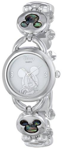 Disney Women's MK2006 Mickey Mouse Abalone Stone Links Bracelet Watch image