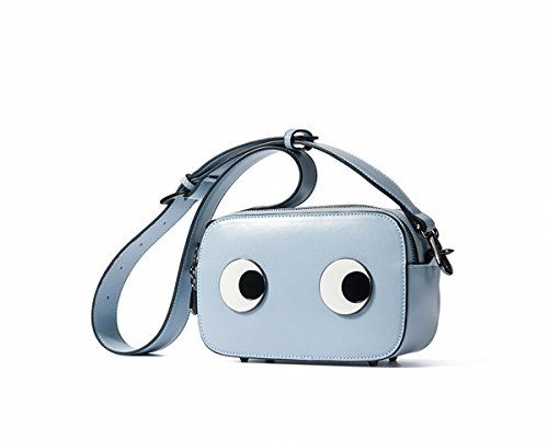 Schulter Kuriertasche Little Lady Mini Square Bag Grau Blau