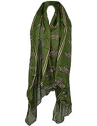 Demarkt Foulard/Écharpe de Femme Dessin de zèbre en Filé de Coton Taille: 175CM(L)*115CM(W)