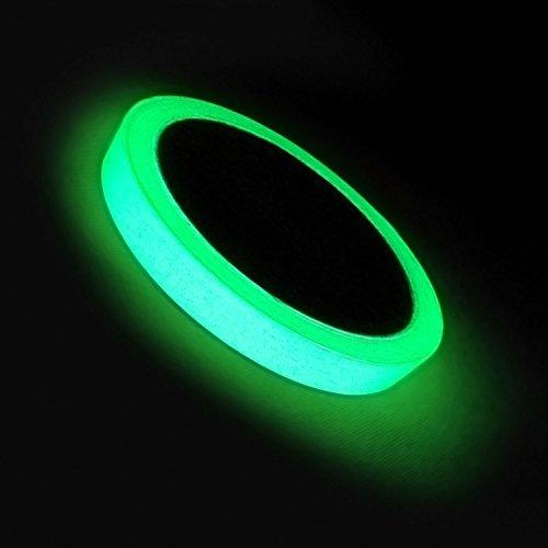 Gosear 300 x 2cm Tape Hell Fluoreszierende Selbstklebeband Aufkleber Photoluminescent Glühen in der dunklen Nacht Sicherheit