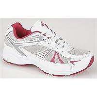 Womens Ladies DEK Air Cushion Joggers Trainers Jogging Shoes Black Pink Size 3-9