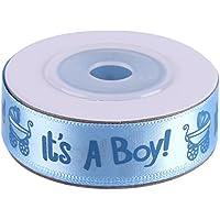 10Yards / Roll IL EST UN GARÇON/FILLE Bleu Rose Baby Shower de Baptême Partie Cadeau Ruban de Taches de Cadeau