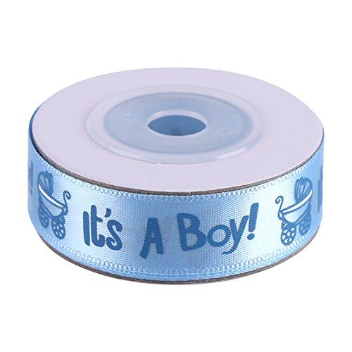 10 Yardas/Rollo ES UN NIÑO/CHICA Azul Rosa Baby Shower Bautizo Party Favor Stain Ribbon IT IS A BOY/GIRL