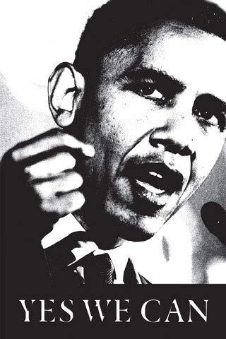 Obama, Barack - Yes we can! - Kunstposter Druck 61x91,5 cm + 1 Ü-Poster der Grösse 61x91,5cm