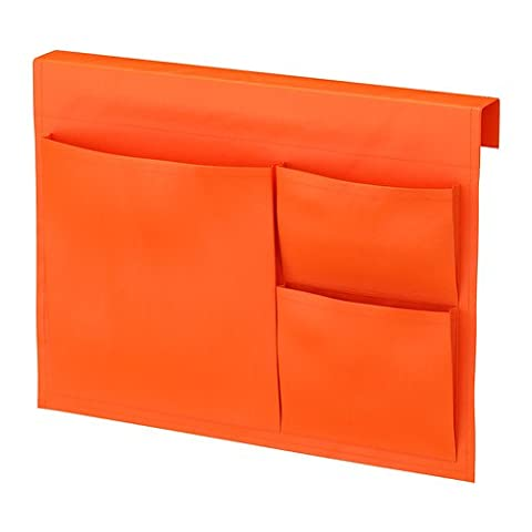 STICKAT Bed Pocket, Orange, Size 39x30 cm, Clever storage solution that you can hang on our children's beds.