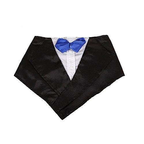 Tofern Hundehalsband Schleife Krawatte Hochzeit Kostüm Party Fliege, Blau -