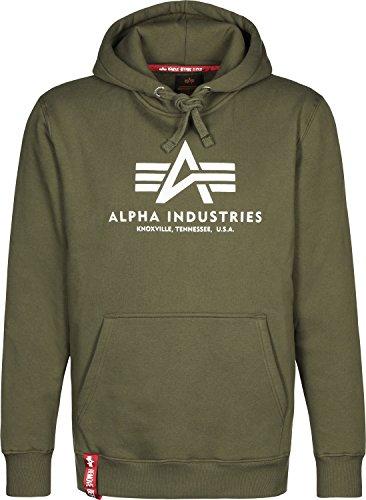 Alpha Industries Herren Oberteile / Hoody Basic grün L