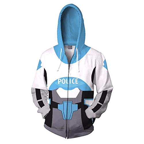 RJHWY 3D Hoodie Sweatshirt Unisex Pullover Kapuzenjacke Kleidung Mantel Reißverschluss Power Rangers XL