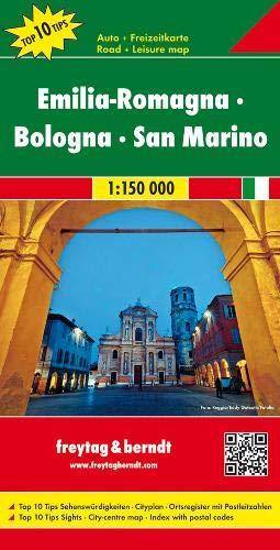 Emilia-Romagna - Bologna - San Marino, Autokarte 1:150.000, Top 10 Tips: Toeristische wegenkaart 1:150 000 (freytag & berndt Auto + Freizeitkarten)