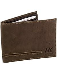 Cartera hombre LUMBERJACK moro cuero bolsillo zip tarjetas de credito A5658