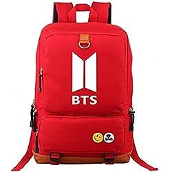 Mochila del grupo BTS de Kpop, rojo