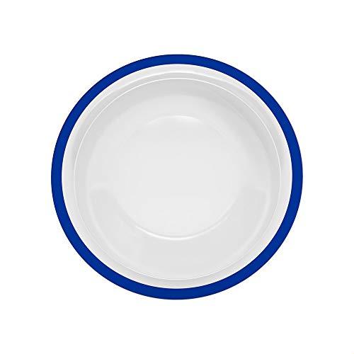 Ornamin Teller tief Ø 22 cm Rand blau Melamin (Modell 505) / Kunststoffteller, Speiseteller, Suppenteller