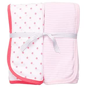 Carter's 2-Pack Swaddle - Poppy Light Pink- One Size
