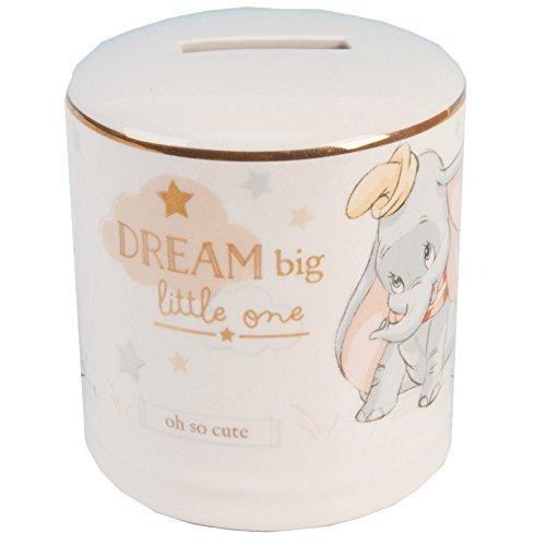 (Widdop Co. Disney Magische Anfängen Keramik Spardose Bank, mit Gold Detail–Dumbo)