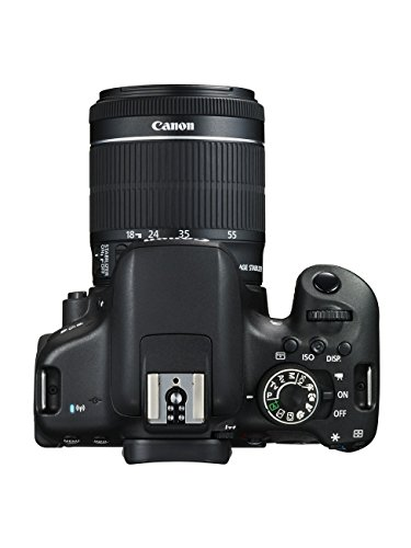 "Canon EOS 750D - Cámara réflex digital de 24.2 MP (Kit con objetivo EF-S 18-55 mm f/3.5-5.6 IS STM, pantalla de 3"", 1080 p, WiFi estabilizador óptico, vídeo Full HD), color negro (versión española)"