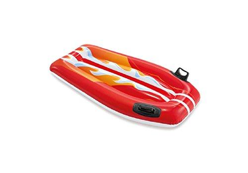 Surfer mit Druck , 2 Haltegriffe, 2 Luftkammer Ein toller und hochwertiger Surfer aus strapazierfähigem Material. Frei von Phthalaten Aufblasbar ein toller Bade Spass für Kinder (rot neu)