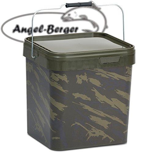 Angel Berger Bucket Angeleimer Boilie Eimer Futtereimer (17l Eckig)
