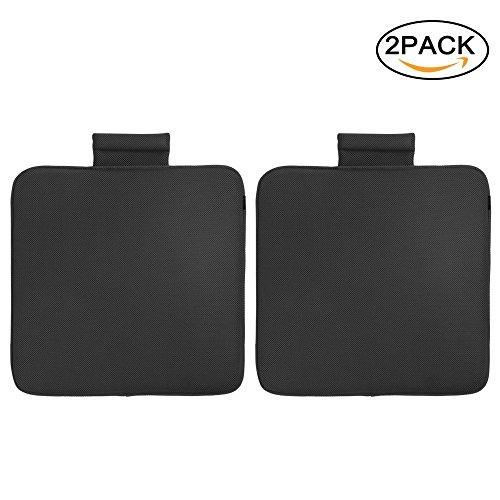 Preisvergleich Produktbild TanYoo Prima Atmungsaktiv Auto Sitzkissen, Orthopädisches Sitzkissen Stuhkissen für Auto und Büro, Waschbar, Kühlwirkung für Sommer Schwarz 45x45x3.5