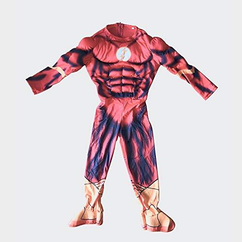 Comics Dc Kostüm Flash - Unbekannt Medium Jungen Herren Dc Comics Kostüm Flash Dress Costume Superhero Superheld Karneval Fasching