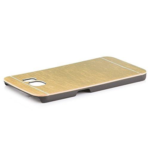 Apple iPhone 6 / 6S + PLUS (5,5 pouces) | iCues Alu Case Argent brossé | [Protecteur d'écran compris] CNC en aluminium Aspect métallique de protection de la peau Couvercle de protection Couvercle Coqu or