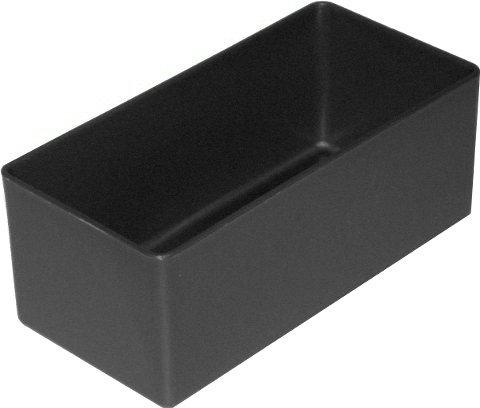 sten E 40/3 / Lagerbehälter, schwarz / anthrazit, 99x49x40 mm (LxBxH), 1 Packung = 25 Stück ()