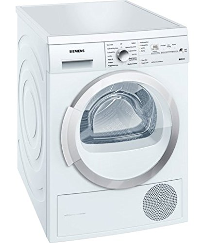 Siemens WT46W381GB Heat Pump Condenser Tumble Dryer, 7kg Load, A++ Energy Rating, White