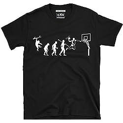 6TN Evolución de Baloncesto Camiseta - Negro, Medium