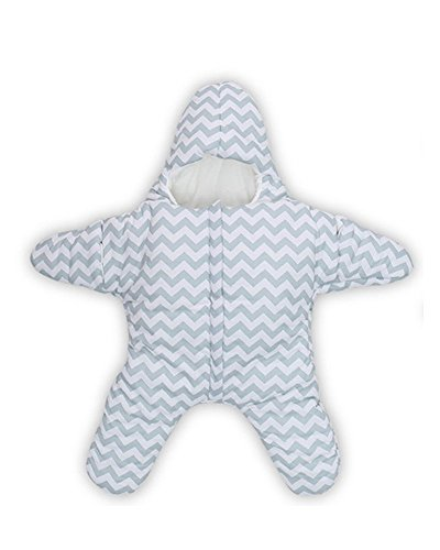 Star Baby Schlafsack schlafen Tasche Swaddle für 0-2 Jahre (0-5 M, Blau) (Sleep-pants Baumwolle Muster)