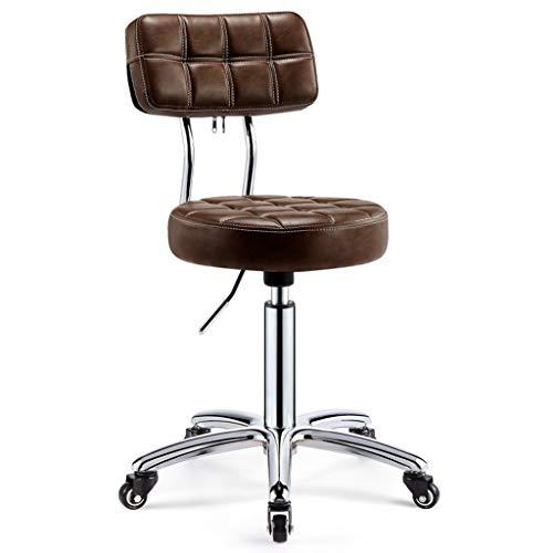 Barhocker PU-Leder Roll Friseur Salon Stuhl höhenverstellbar Büro medizinisches Haus Drehfriseurstuhl mit Rad Ausarbeitung (Ausarbeitung Studio-designs)