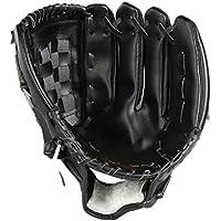 Panamar Cuero de PVC Béisbol Guante de 10.5-12.5 Pulgadas Guantes de Entrenamiento de béisbol de Mano Izquierda Softbol Accesorio de béisbol Profesional - Negro - L