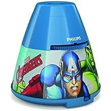 Philips los Vengadores Iluminación Infantil LED Integrado, Regulable, Azul