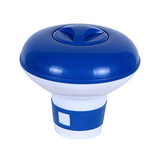BESTOMZ Piscina Dispensador de Productos Químicos Flotante Titular de la Píldora Caja de Almacenamiento Tableta Auto-Proveedor de Piscinas de Remar 5 Pulgadas