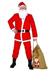 Idea Regalo - Ciao 25010 - Babbo Natale con Sacco in Juta, Rosso/Bianco, Taglia Unica
