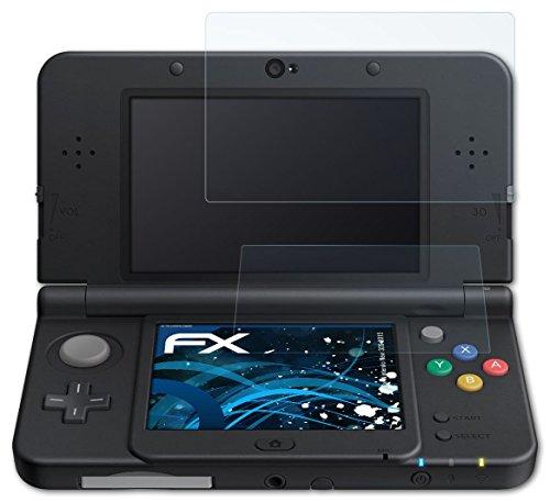 atFoliX Antichoque Película Protectora Nintendo New 3DS (2015) Protector Película - Set de 3 - FX-Shock-Clear