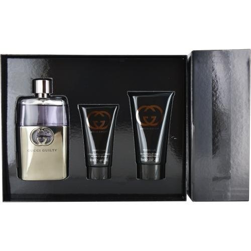 Gucci GUILTY POUR HOMME 2016 Set 90ml Eau De Toilette EDT, 50ml Shower Gel & 75ml Aftershave Balm