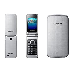 Samsung GT-C3520 Klapphandy (6,1 cm (2,4 Zoll) Display, 1,3 Megapixel Kamera) metallic-silver