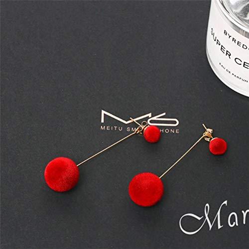 YCEOT Ohrringe Mode Plüsch Ball Ohrringe Für Frauen Korean Samt Quaste Lange Ohrringe Geschenk Schmuck -