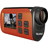 Rollei S-30 WiFi Plus Actioncam und Helmkamera (3,8 cm (1,5 Zoll) TFT Display, 2 Megapixel CMOS Sensor, Full HD Video-Auflösung) orange