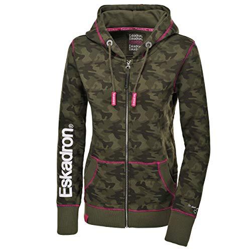Eskadron Fanatics Damen Zip-Hoodie Zaza in Camouflage-Olive, Größe:XS