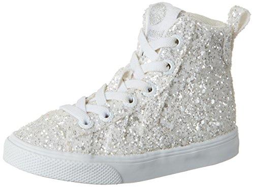 Hummel Strada Sparkle Jr, Sneakers Hautes Fille Blanc (White)