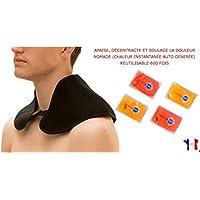 Nackenwärmer I Nackenkissen I Schulterwärmer incl. 4 wiederverwendbare Taschenwärmer – Hilft bei Schmerzen, Verspannungen... preisvergleich bei billige-tabletten.eu
