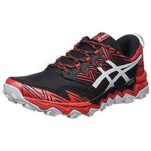 ASICS Men's Gel-Fujitrabuco 8 Running Shoe, Classic Red/Piedmont Grey, 9 UK