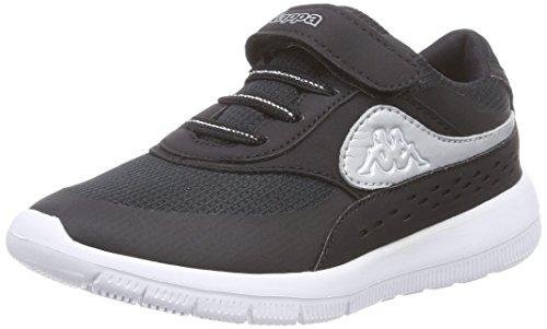 Kappa Milla K Footwear Kids, Scarpe da Tennis Unisex per Bambini, Nero Schwarz (1115 Black/Silver), 29 EU