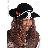 Carnival 5575 - Cappello Pirata in Bifloccato