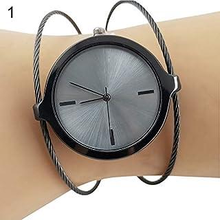 FEIDA Wrist Watches Lady Vintage Round Dial Hollow Quartz Bangle Wrist Watch Engagement Jewelry Gift - Black